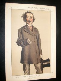 Vanity Fair Print 1873 Mayne Reid, Literary - Irish